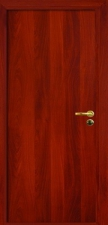 Межкомнатная дверь, полотно глухое итальянский орех с замком 2014