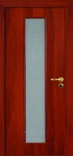 Межкомнатная дверь, полотно со стеклом итальянский орех с замком 2014
