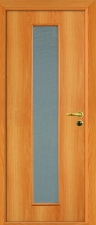 Межкомнатная дверь, полотно со стеклом миланский орех с замком 2014
