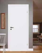 Межкомнатная дверь для офиса, полотно белое ГОСТ с замком 2014