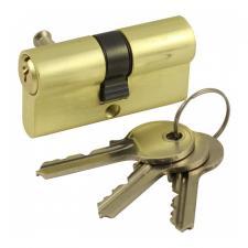 Цилиндр личинка DIN 60 ключ/ключ золото 3кл.