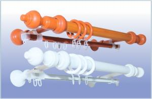 Карниз для штор круглый ф28мм 1,8 м с U-шиной пластик фурнитура
