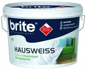 Акриловая краска Brite Hausweiss шелк-матовая с уникальной технологией Тeflon