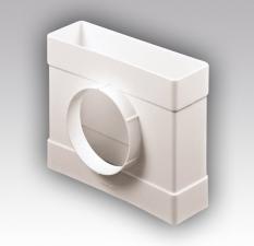 Соединитель T-образный пластиковый плоских воздуховодов с выходом на фланцевые распределители ТФП