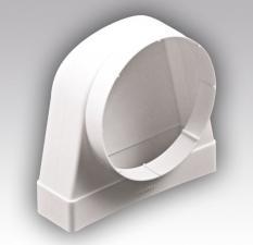 Соединители 90° прямоугольного воздуховода с круглым СК КП