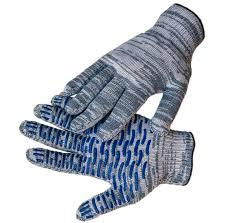 Перчатки х/б серые крапление