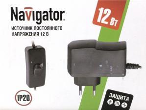 Блок питания, адаптер Navigator 12V 12W