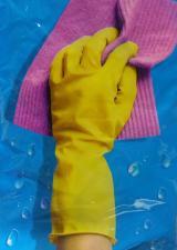 Перчатки латекс желтые