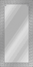 "Зеркало  ""Орнамент"" 1100х500 пескостр. рисунок"