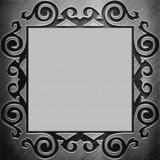 "Зеркало  ""Арника"" 800х800 подложка пескостр. рисунок"