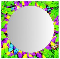"""Зеркало  """"Лето"""" 600х610 подложка, термопечать"""