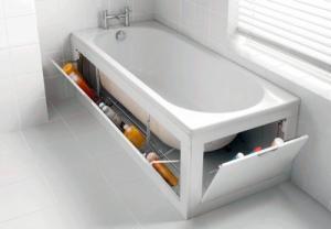 Экран с откидными дверцами белый под ванну