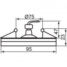 Светильник Feron DL8060-2 MR16 встраиваемый