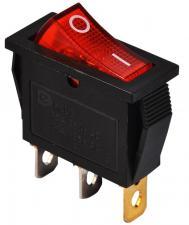 Переключатель сетевой 1кл. 13х30мм (индик.лампа)