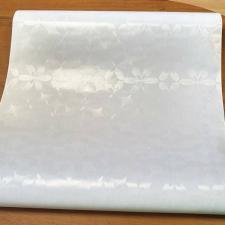 Самоклеющаяся плёнка 0,45х8м DELUXE 9105, витражная на стекло, белая матовая.