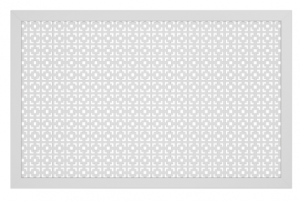 Экран для батареи Квартэк Simple перфорация Верон белый