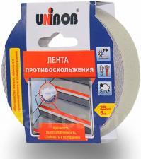 Лента противоскользящая прозр. 25мм*5м UNIBOB