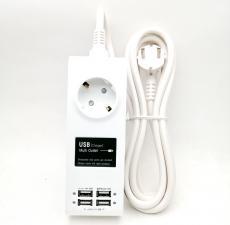 Сетевой фильтр 1гн 4порта USB 3м Power Strip 8809014217389