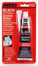 Герметик ABRO силикон для прокладок черный 85г. 12-AB