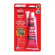 Герметик ABRO Masters  силикон для прокладок 999 красный 85г.