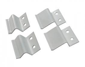 Крепление для москитной сетки белое металл (1шт.)