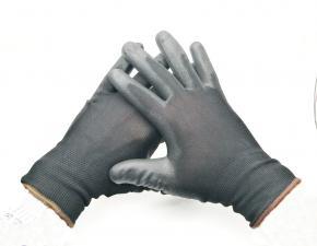 Перчатки черные синтетика облит. ладонь