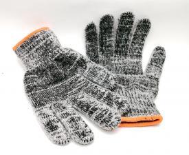 Перчатки х/б серые теплые