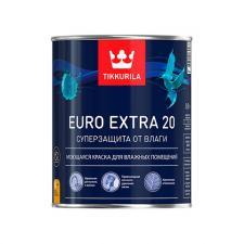 Краска в/д Tikkurila для влажн. помещений EURO EXTRA 20 полуматовая