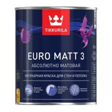 Краска в/д Tikkurila EURO MATT 3 (А) глубокоматовая