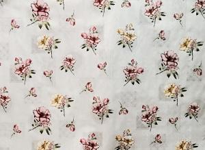 """Клеенка на стол """"Мирелла""""  Цветы 117А ширина1,4м Турция"""