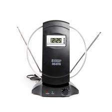 Антенна коматная МВ+ДМВ актив. ЭФИР SE-878 усы 80см кабель 1м, с рег.