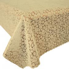 Клеенка на стол ажурная Pontelambro Felicita ITTO   ширина 1,4м крем