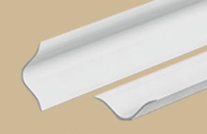 Бордюр на ванну БВу25 001G  2,0м,  25х25мм  пластик с  мягк. краями белый