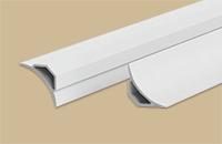 Галтель на ванну  ГМ 2,5м,  20х20мм  пластик с  мягк. краями белая
