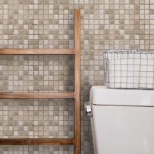 Панель ПВХ 0,955х0,48м Мозаика коричневая с узорами
