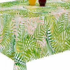 Клеенка стол. Флориста Зеленые листья 1335 шир.1,4м (пог.м.)