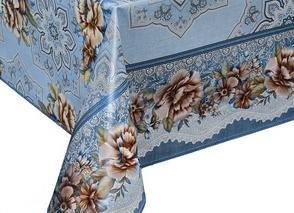 "Клеенка на стол ""Dekorama""  Голубой цветок 127С 1,4м"
