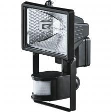 Прожектор галогенный Navigator 150Вт с датчиком движения черный
