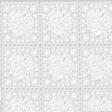 Клеенка на стол ажурная Pontelambro Felicita DINA  1,4м белая
