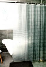 Шторка виниловая для ванной 180х180см с кольцами YHB101-3 серая