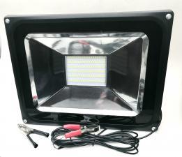 Прожектор-переноска CAICAI LED 50Вт, 12V, крокодилы