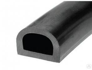 Уплотнитель D-профиль 21х15 черный самокл