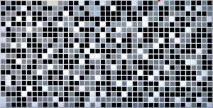 """Панель ПВХ 0,955х0,48м мозаика """"Черная"""""""