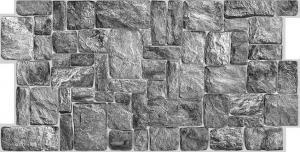 Панель ПВХ 0,98х0,498м камень натуральный серый
