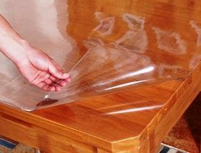 """Клеёнка прозрачная """"Мягкое стекло"""" ширина 0,8м толщина 0,8мм"""