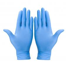 Перчатки нитрил. WALLY синие  размер M