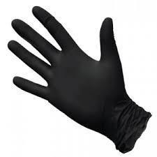 Перчатки нитрил. WALLY черные  размер L