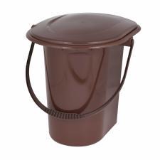 Ведро-туалет 18л коричневый М7619