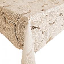 Клеенка на стол ажурная Pontelambro Felicita Sara  ширина 1,4м крем