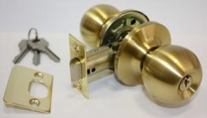 Ручка дверная замок ЗШ-01 ключ/фиксатор